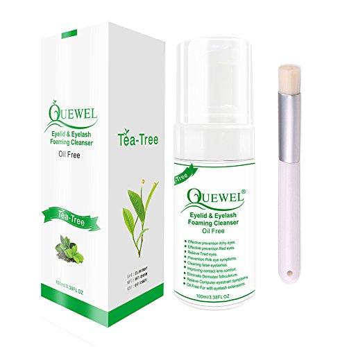 Wimpern Shampoo Lash Shampoo 100 ml Wimpernverlängerung Shampoo/Wimpernverlängerung waschen Sicher für den täglichen Gebrauch und ölfrei mit weicher Bürste (Teebaum)