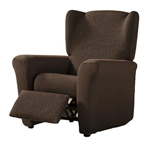 Zebra Textil Elastische Husse Relax-Sessel Beta Größe 1 Sitzer (Standard), Farbe Braun (Mehrere Farben verfügbar)