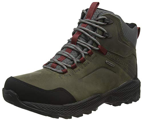 Merrell mens Forestbound Mid Waterproof Hiking Boot, Merrell Grey, 10.5 US