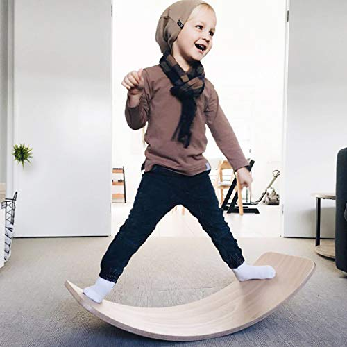 HQPCAHL Balance Board, 35 Zoll, Balance Board, Offenes Spielzeug, Wobble Balance Board,Natural