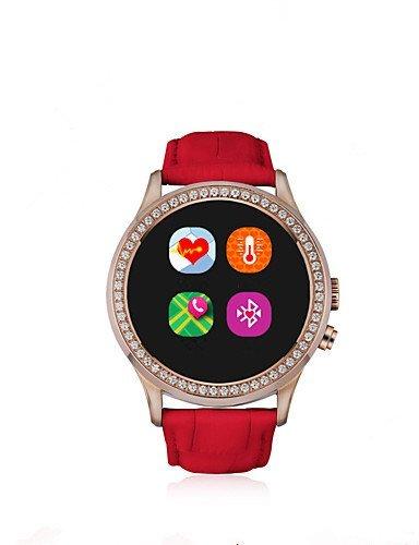 Bluetooth 4.0 Amun-re Smartwatch (llamadas manos libres, recordatorio de mensajería instantánea, podomette, alarma antirrobo, alarma), rubí