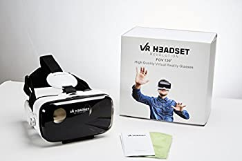 VR Headset Revolution 3D VR Glasses or Goggles Featuring Built-In Volume and Control Dial & Headphone