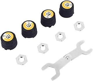 6 ruote gommate Sensore esterno Batteria LCD a colori sostituibile Segnale potenziato Sistema di monitoraggio della pressione dei pneumatici per autocarri senza fili per auto universali DC8V-DC30V