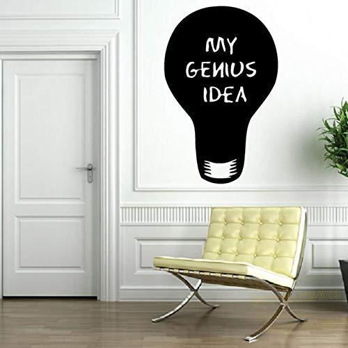 Glödlampa väggdekal My Ideas rolig stadsdekoration vägg fejk väggmålning vinyl konst klistermärke avtagbar konst väggdekor sovrum dekal 57 x 86 cm