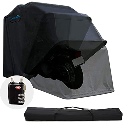 Quictent Heavy Duty Motorcycle Shelter Shed Cover Storage Garage Tent with TSA Code Lock & Carry...
