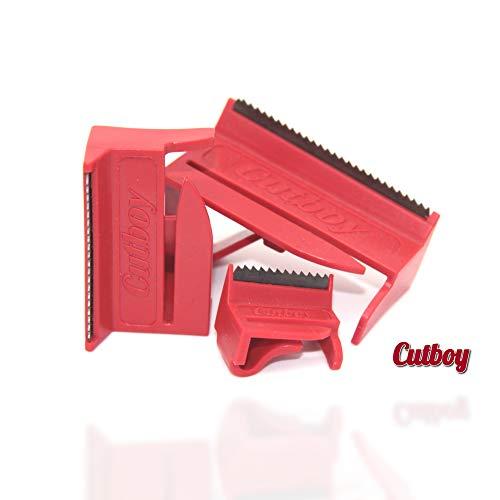 Cutboy ® Set 2 Klebebandabroller - 3er Set 20mm, 38mm, 50mm - Ideal für Büro, Basteln, Bauarbeiten - Handabroller aus deutscher Herstellung