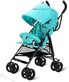 Baby Barnvagn Travel Pushchair för nyfödd spädbarn Toddler Lightweight Barnvagn, Compact Travel Buggy, en hand vikbar, med...