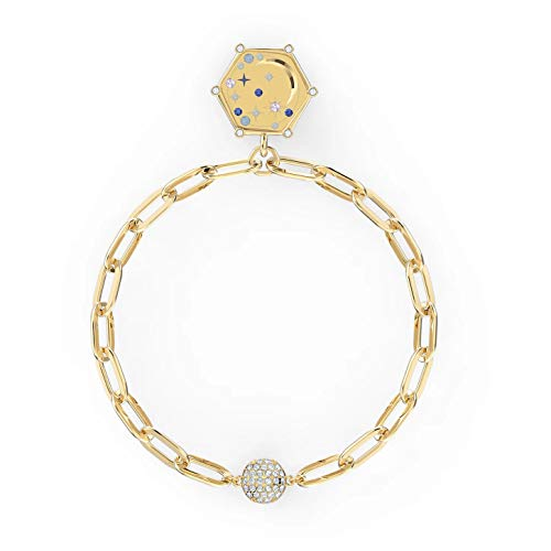 Swarovski The Elements Moon 5572651 - Pulsera chapada en Oro (17,3/2 x 2 cm), Color Azul
