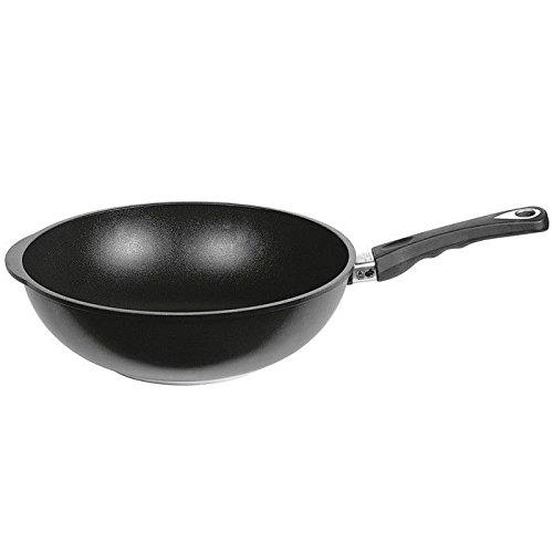 AMT Gastroguss Inductie Wok 32cm 2,8l, gegoten aluminium, zwart, 32 cm