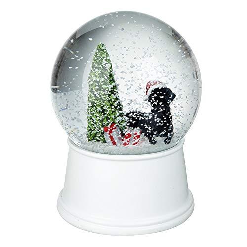 Unbekannt HSE Weihnachts-Schneekugel/Kuppel/Wasserball Schwarzer Hund