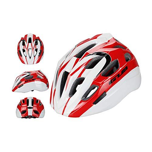 FitTrek Casco Bici Bambino - Casco Bici Bimbo Regolabile 53 a 58 cm - Luce Casco Bicicletta Bimba per Ciclismo Strada, MTB, Monopattino, Skateboard, Pattinaggio