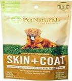 Pet Naturals of Vermont – Piel + Abrigo para Perros, Soporte para la Piel Seca, picazón e irritada, 30 masticadores de tamaño mordido con Ingredientes Naturales
