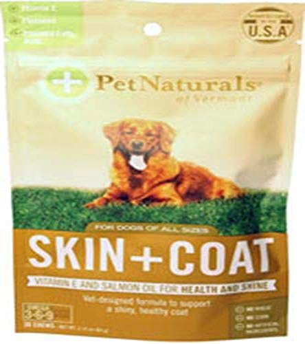 Pet Naturals - Skin + Coat for Dogs  Dry  Itchy & Irritated Skin Support  30 Bite-Sized Chews with Natural Ingredients (070090E.030)