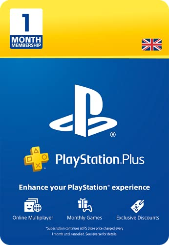 PlayStation Plus: 1 Month Membership | PS5/PS4/PS3 | PSN Download Code - UK...