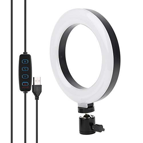 Luz de Relleno LED, lámpara de Anillo de Video para teléfono móvil de 6 Pulgadas, luz anular de transmisión en Vivo USB para Selfie, Maquillaje