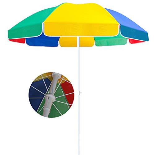 ACXZ Sombrilla de Patio pequeña de 2,2 m, Parasol de jardín Redonda con manivela, sombrilla de Mesa al Aire Libre para césped, Patio Trasero, Junto a la Piscina, terraza, Colorido