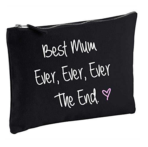 Meilleure Maman jamais jamais jamais la fin Noir Make Up Sac cadeau Idée de cadeau Trousse de toilette fête des mères