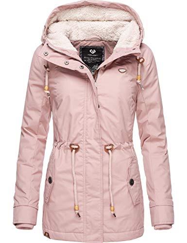 Ragwear Damen Winterparka Kurzmantel Monadis Black Label Old Pink 019 Gr. M