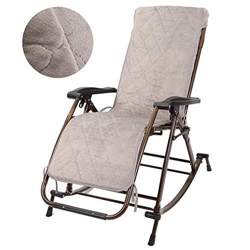 HXCD Klappbarer Schaukelstuhl mit Kopfstütze, Patio Pool Yard Tragbarer Schwerelosigkeitsstuhl für schwere Personen im Freien, Stütze 440 lbs, mit Flanellkissen