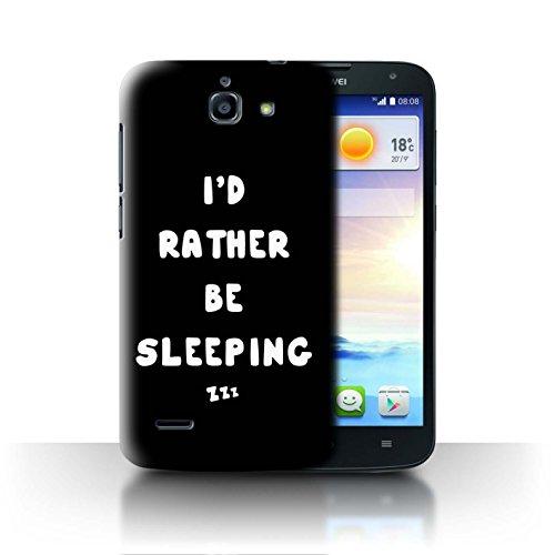 Stuff4® - Carcasa para teléfono móvil, diseño de Chica y Mujer I'D Rather Be Sleeping Huawei Ascend G730