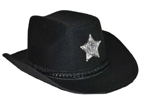 Generique - Chapeau shériff avec étoile Noir