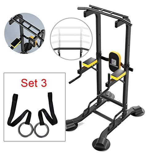 Thuis horizontale balk Indoor pull-ups multifunctionele fitnessapparatuur sporttraining enkelpolige kan dragen 300kg (Color : Set 3, Size : 120 * 77.9 * 165~240cm)