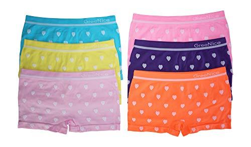 Dealzone 6er Pack sportliche Mädchen Pantys | Kinder Hipster Shorts 98-104