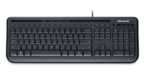 Microsoft Wired Desktop 600 Tastatur USB Schwarz - Tastaturen (Standard, Verkabelt, USB, Membran-Schlüsselschalter, Schwarz, Maus enthalten)