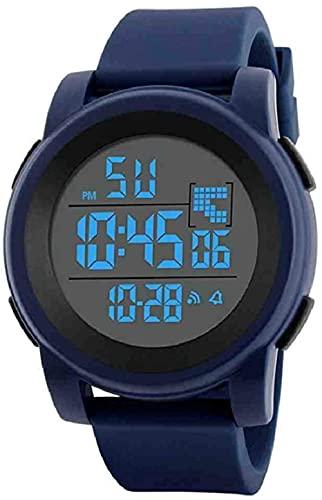 JZDH Mano Reloj Reloj de Pulsera Hombres Analógico Digital Ejército Militar Deporte LED LED Merústico Reloj de Pulsera Lujo de Luxury de Luxeler Relojes Decorativos Casuales (Color : Blue)
