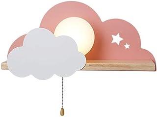 Creative Cloud Appliques Murales Dessin Animé Nordique Jolie Fille avec Interrupteur Décoratif Chambre Chambre D'enfants É...