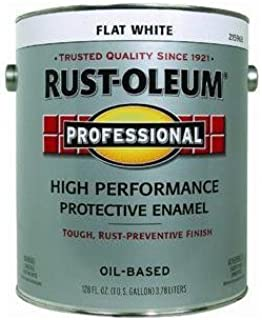 RUST-OLEUM 215968 Professional Gallon Flat White Enamel