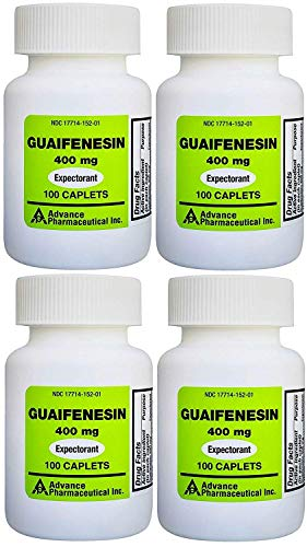 Mucus Relief Guaifenesin 400 mg 400 Tablets Generic for Mucinex Chest Congestion Immediate Release