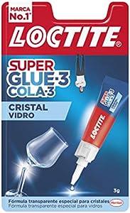 Loctite Super Glue-3 Cristal, adhesivo para cristal resistente al agua, pegamento instantáneo especial para cristales, pegamento transparente y extrafuerte, 1x3 g