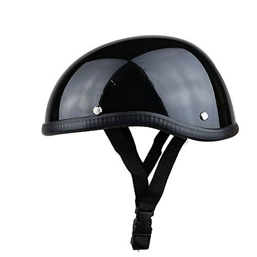 ZXLLAFT Helm, Low Profile Novelty Motorradhalbhelm, Kleinster, Leichtester, Low Profile Beanie Motorradhelm,B
