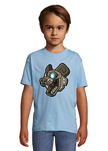 Luckyprint Cartoon Styled Ancien Mayan Dog Statue Heaven Kids Colorful T-Shirt 2 Year Old (86/94cm)