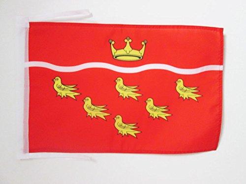 AZ FLAG Flagge GRAFSCHAFT East Sussex 45x30cm mit Kordel - East Sussex Fahne 30 x 45 cm - flaggen Top Qualität