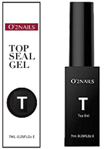 1 pinceau O 'bouteille 2 Nails Top UV Seal (versiegelung) 7 ml