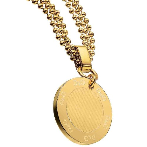 Dolce & Gabbana Jewels D&G Flutter Necklace SS IPG/Coin with NORMAL Logo DJ0676 Female