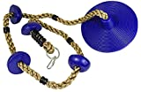 Squirrel Products Climbing Rope with Disc Swing - Additions & Replacements for Active Outdoor Play Equipment - Blue