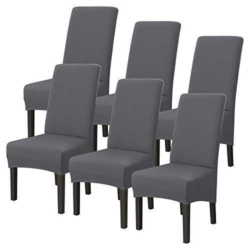 Heflashor Universal Stretch Stuhlhussen Abnehmbare Waschbar Stuhlbezug Sitz Stuhl Stuhlüberzug Abdeckungen Hussen für Esszimmer Hotel Bankett