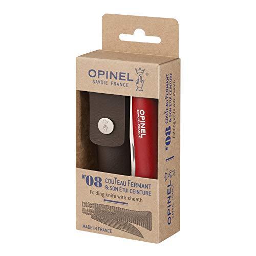 Opinel O001890 Navaja Caja N°08, Rojo, M