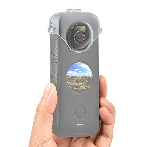 Lens Guards for Insta360 ONE X2, Transparent Protective Case for Insta 360 ONE X2 Panoramic Action Camera Accessory