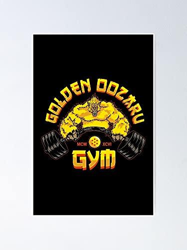 Póster de Gimnasio Ozaru dorado – para citas inspiradoras, impresiones de motivación, regalo para mujeres, regalo para hombres, decoración de pared de oficina, dormitorio