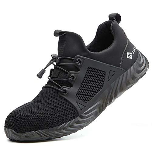 Calzado de Seguridad Hombre S3 Mujer Zapato Trabajo Antideslizante Transpirable Ligeras Zapatos de Industria Unisex