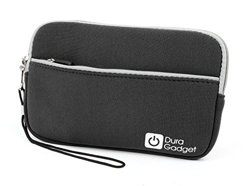 Lightweight Water-Resistant Carry Case / Storage Pouch (Black) with Wrist Strap - Compatible with Natural History Museum N5130 Dinosaur | Creepy Crawly | Sea Creatures Torch & Projector (CASE ONLY)