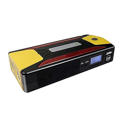 KaiLangDe 600A 12000mAh Car Jump Starter Batería de Refuerzo 6.0L Gas 3.0L Motor diésel Carga rápida USB 12V Paquete de energía de Litio portátil para automóvil Luz LED LCD Brújula