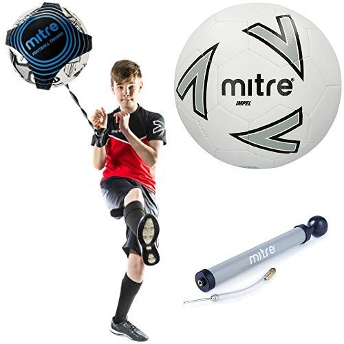 Mitre Solo Close Control and Skills Boys Football Training Aid Multicolor One Size and Ball Size 5