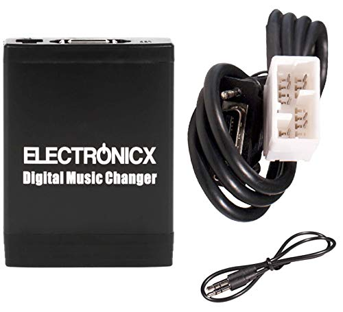 Electronicx Elec-M06-HON2F Adaptador de Musica Digital para Coche USB, SD, AUX,...