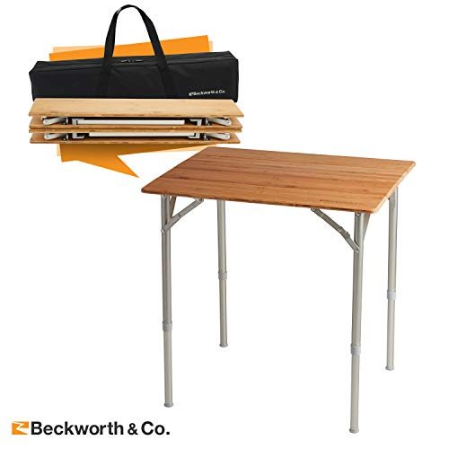 Beckworth & Co. SmartFlip Bamboo Portable Outdoor Picnic...