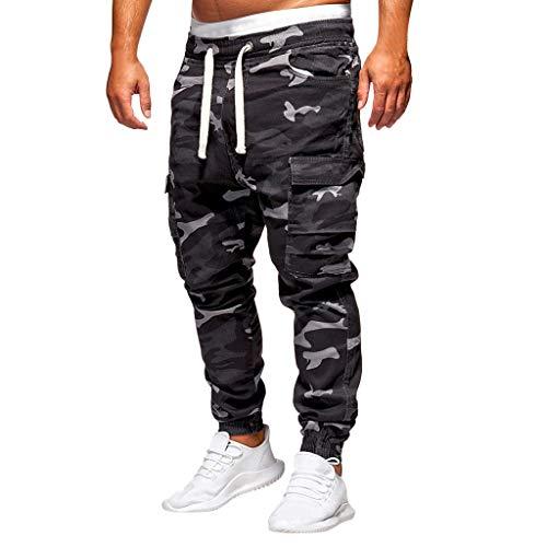 Jogginghose Herren Hose Cargo Chino Jeans Stretch Jogger Sporthose Slim-Fit Trainingshose Herren Loose Haremshose Camouflage Cargohose
